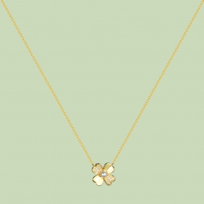 Gold Plated Flower Pattern Necklace Flj Net1784 Nl