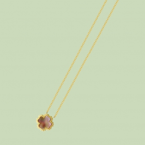Gold Plated Plus Pattern Necklace Flj Net1793 Nl