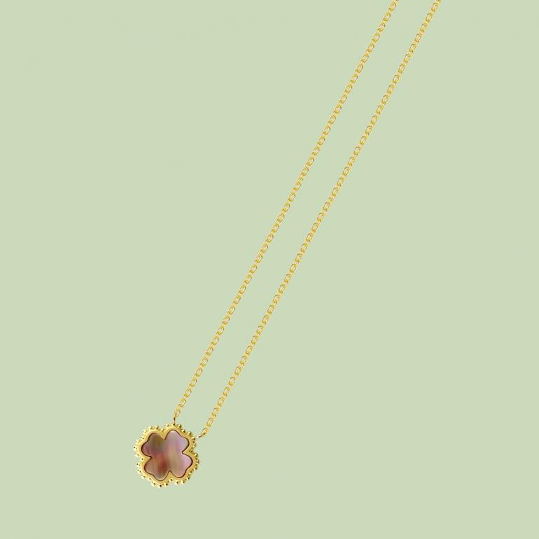 Gold Plated Plus Pattern Necklace Flj Net1793 Nl