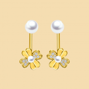 Flower Shape Earrings Flj Er1019 Er