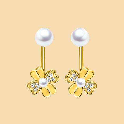 Flower Shape Earrings Flj Er1019 Er