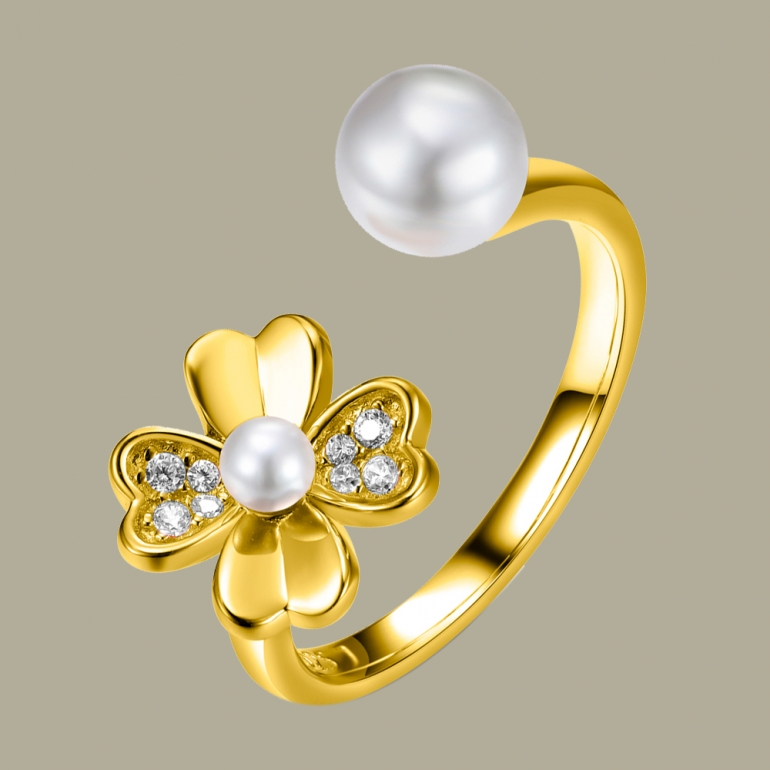 Flower Shape Ring Flj Rit1337 7 R