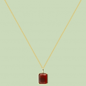 Gold Plated Square Pattern Necklace Flj Net1795 Nl