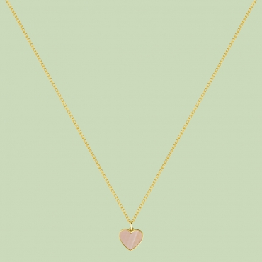 Happy Hearts Pattern Necklace Flj Net1563 16nl
