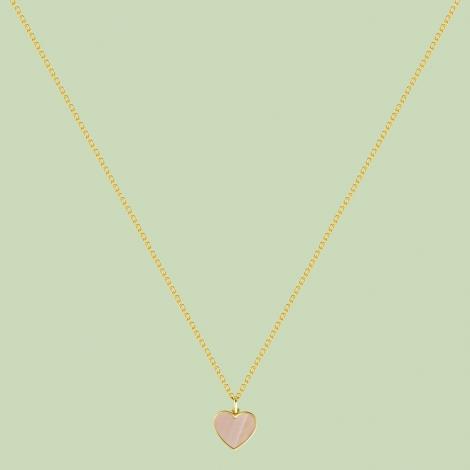 Happy Hearts Pattern Necklace Flj Net1563 16nl