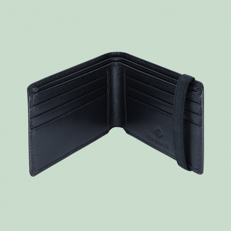 Fabian Leather Wallet Black - FMW-SLG22-B 2