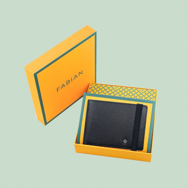 Fabian Leather Wallet Black - FMW-SLG22-B 4