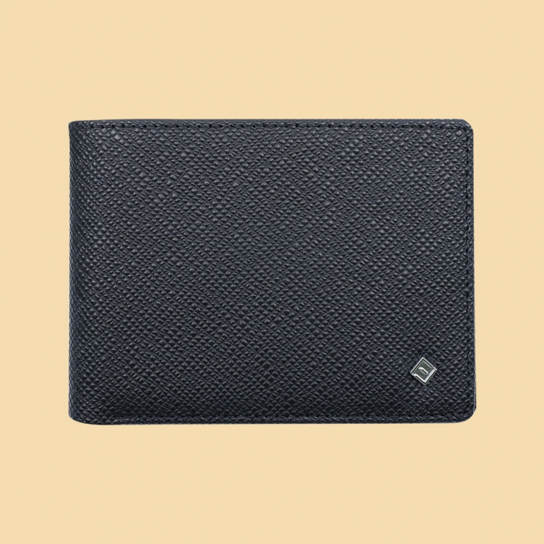 Fabian Leather Wallet Black - FMW-SLG29-B 1