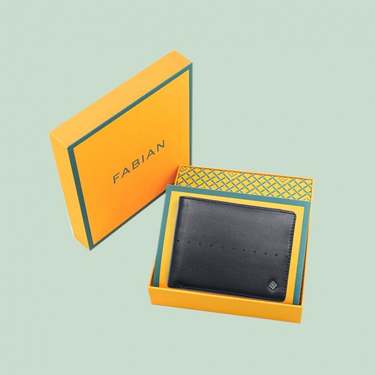 Fabian Leather Wallet Black - FMW-SLG7-B 4