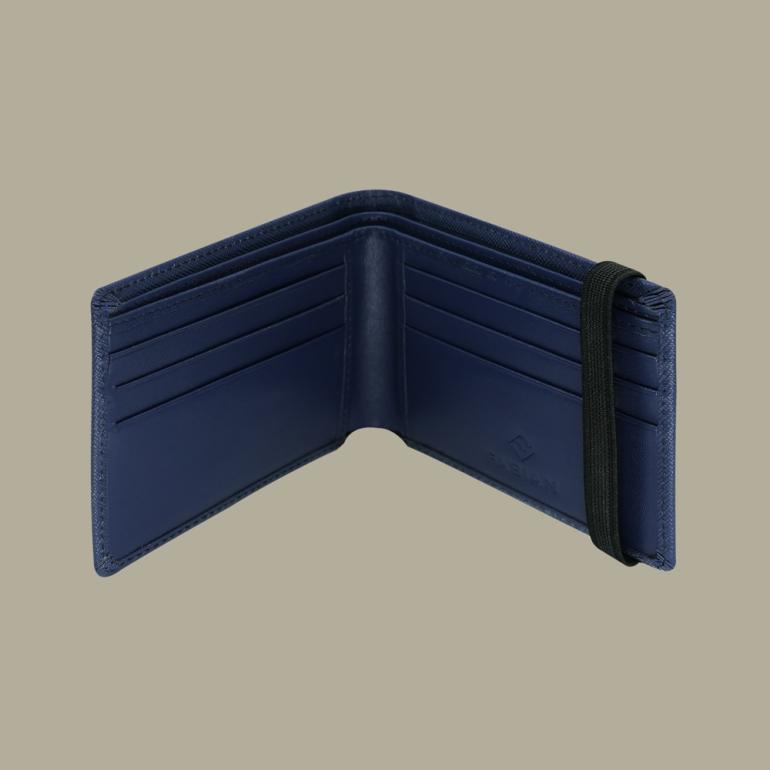 Fabian Leather Wallet Blue - FMW-SLG23-BL 3