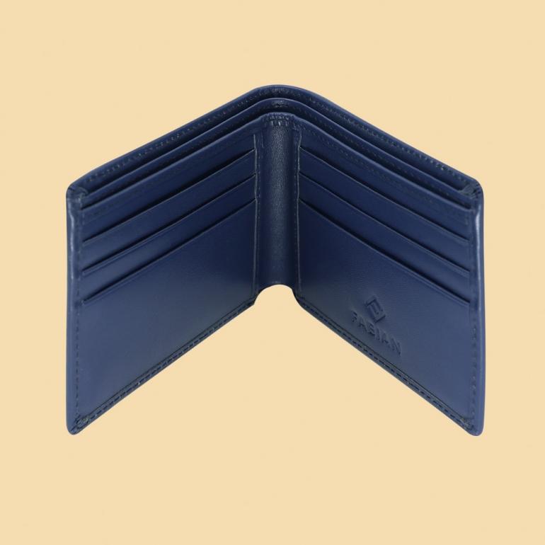 Fabian Leather Wallet Blue - FMW-SLG8-BL 3