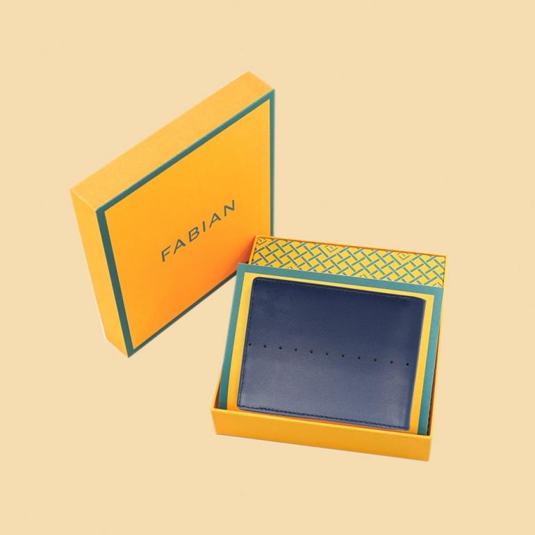 Fabian Leather Wallet Blue - FMW-SLG8-BL 4