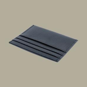 Fabian leather black blue card holder fmwc slg12 bnbl back