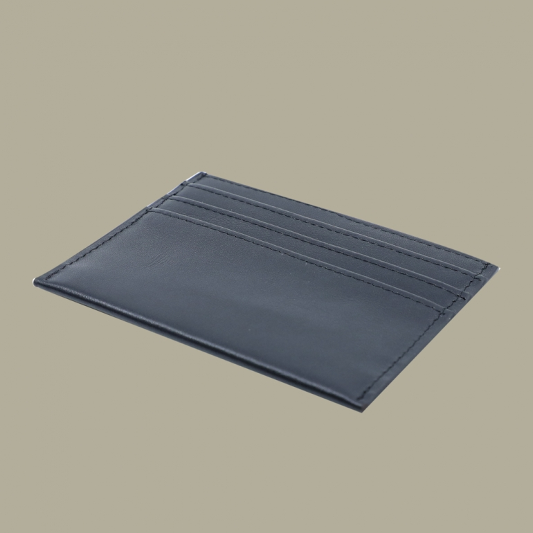Fabian leather black blue card holder fmwc slg15 bnbl back