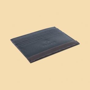 Fabian leather black brown card holder fmwc slg17 bnbr back