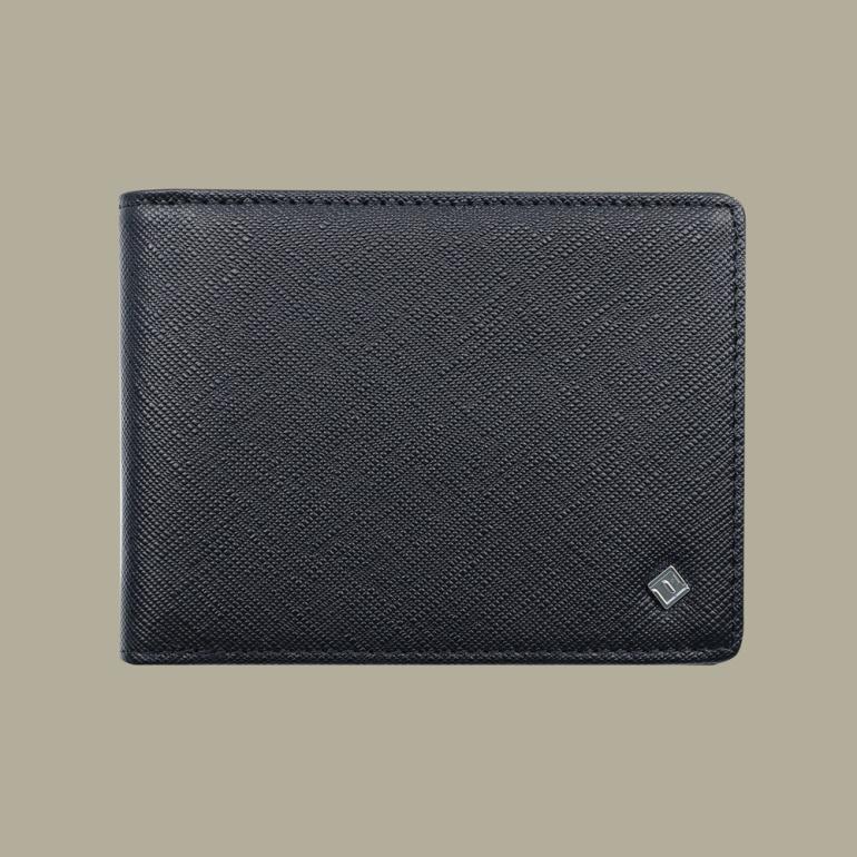 Fabian leather black wallet fmw slg1 b front