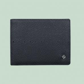 Fabian leather black wallet fmw slg10 b front