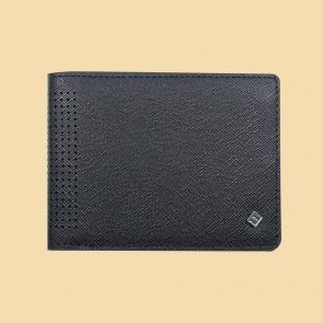 Fabian leather black wallet fmw slg20 b front