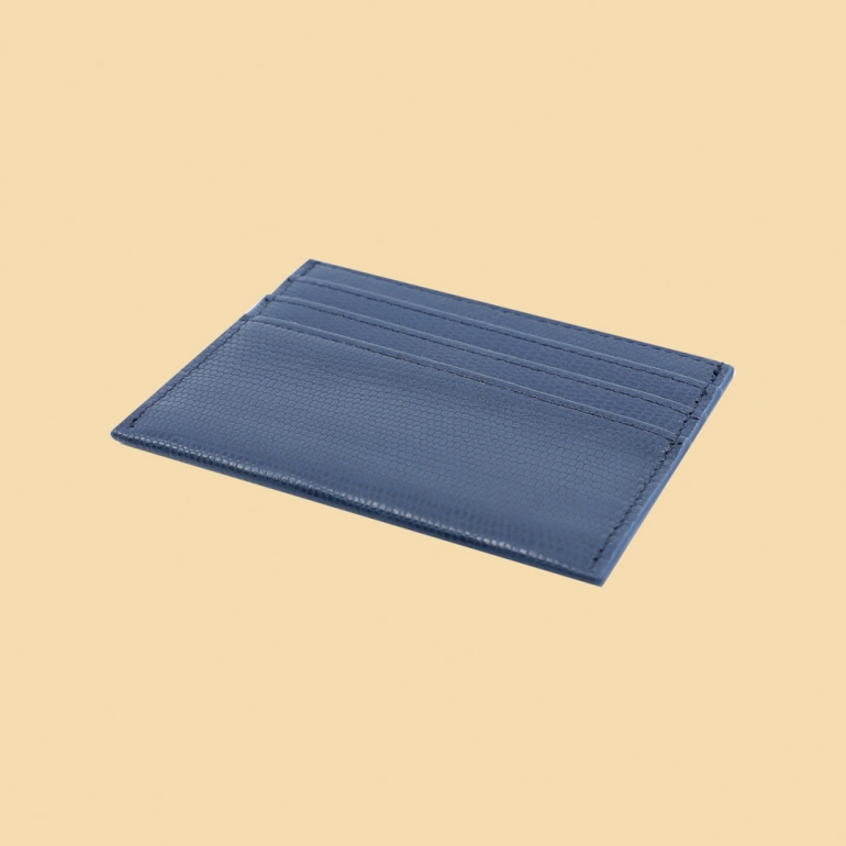 Fabian leather blue card holder fmwc slg41 bl back
