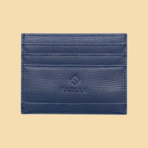 Fabian leather blue card holder fmwc slg41 bl front