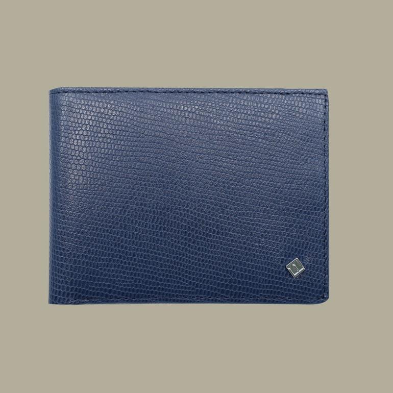 Fabian leather blue wallet fmw slg5 bl front