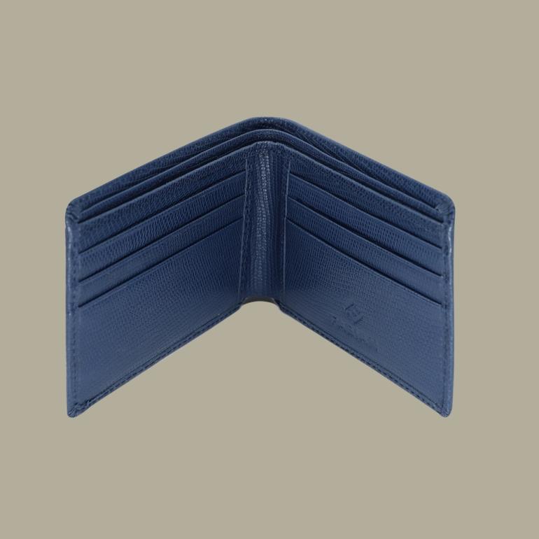 Fabian leather blue wallet fmw slg5 bl inside