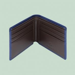 Fabian leather brown blue wallet fmw slg51 brnbl inside