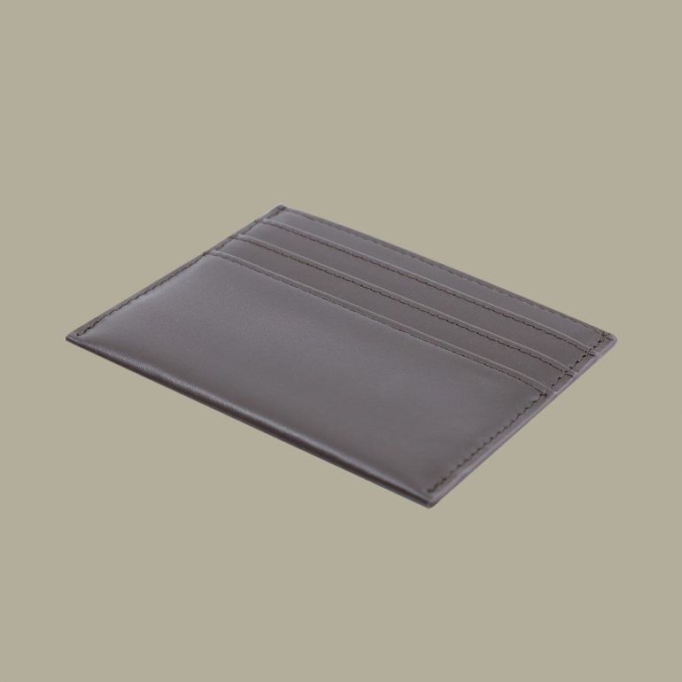 Fabian leather brown card holder fmwc slg38 br back