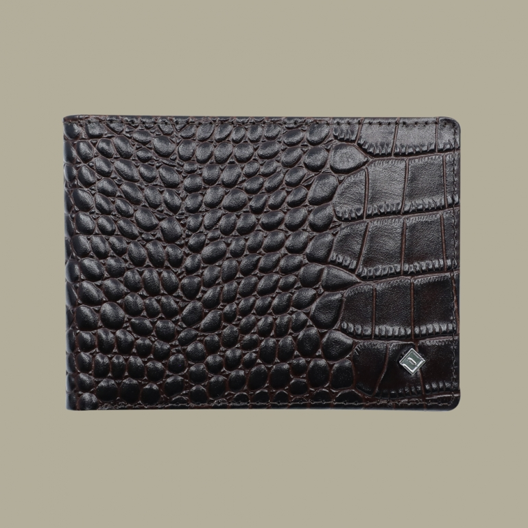 Fabian leather brown wallet fmw slg28 br front