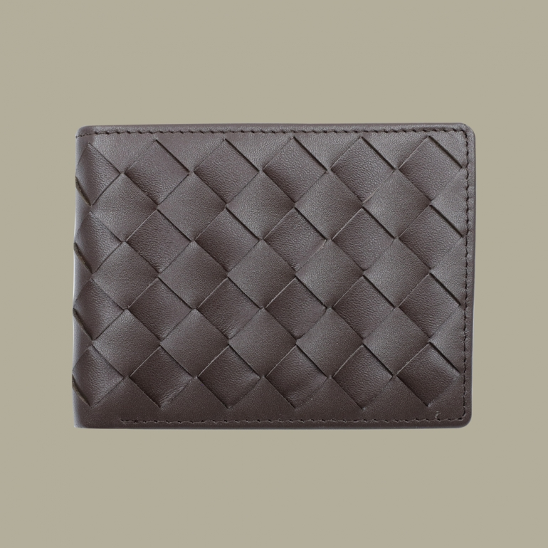 Fabian leather brown wallet fmw slg30 br front