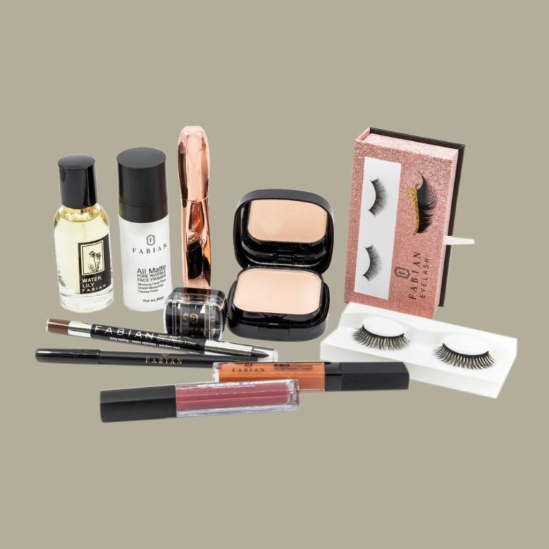 Fabian Cosmetics Collection 10 pcs Dark Pink