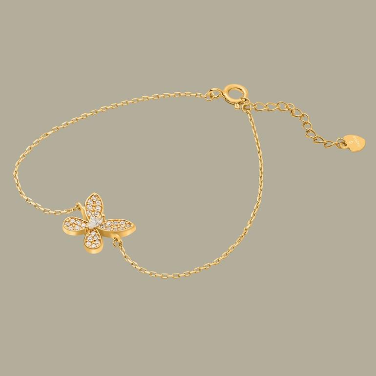 Fabian Butterfly Design Gold Bracelet-FLJ-CG20B2116S-BR.G 01