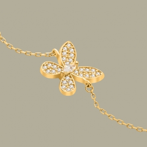 Fabian Butterfly Design Gold Bracelet-FLJ-CG20B2116S-BR.G 02