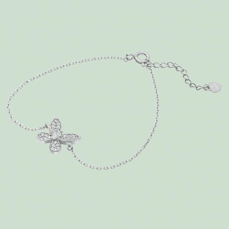 Fabian Butterfly Design Silver Bracelet-FLJ-CG20B2116S-BR.S 01