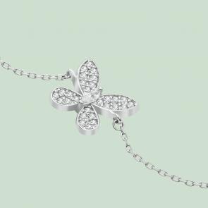 Fabian Butterfly Design Silver Bracelet-FLJ-CG20B2116S-BR.S 02