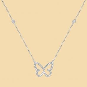 Fabian Butterfly Pendant Silver Necklace-FLJ-CG20N3991S-NL.S 01