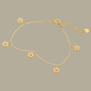 Fabian Flower Design Gold Bracelet-FLJ-CG20B1931S-BR.G 01