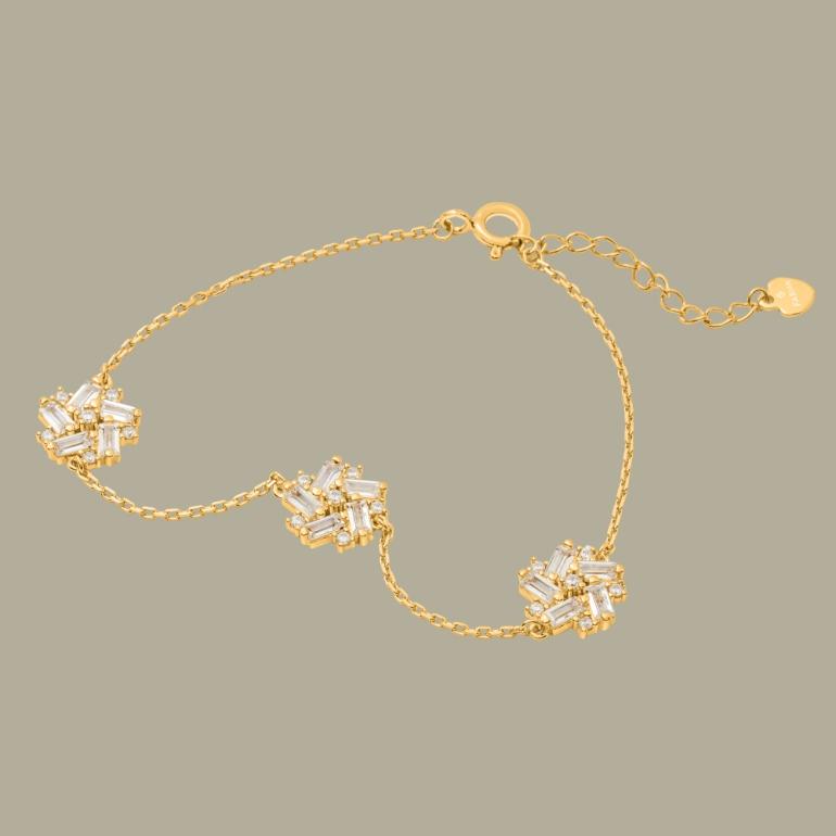 Fabian Flower Design Gold Bracelet-FLJ-DM18B1965S-BR.G 01