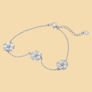 Fabian Flower Design Silver Bracelet-FLJ-DM18B1965S-BR.S 01