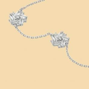 Fabian Flower Design Silver Bracelet-FLJ-DM18B1965S-BR.S 02