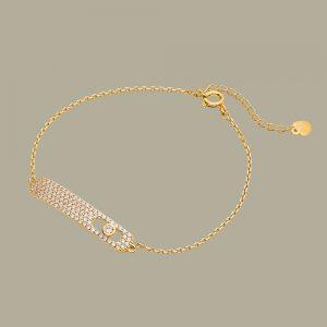 Fabian Rectangular Design Gold Bracelet-FLJ-CG20B2275S-BR.G 01
