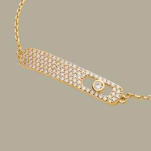 Fabian Rectangular Design Gold Bracelet-FLJ-CG20B2275S-BR.G 02