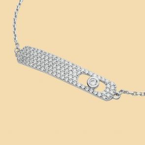 Fabian Rectangular Design Silver Bracelet-FLJ-CG20B2275S-BR.S 02
