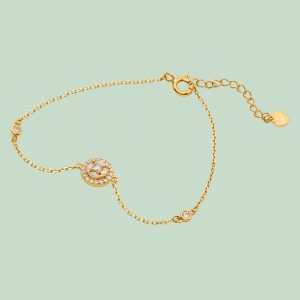 Fabian Round Design Gold Bracelet-FLJ-CG20B3970S-BR.G 01