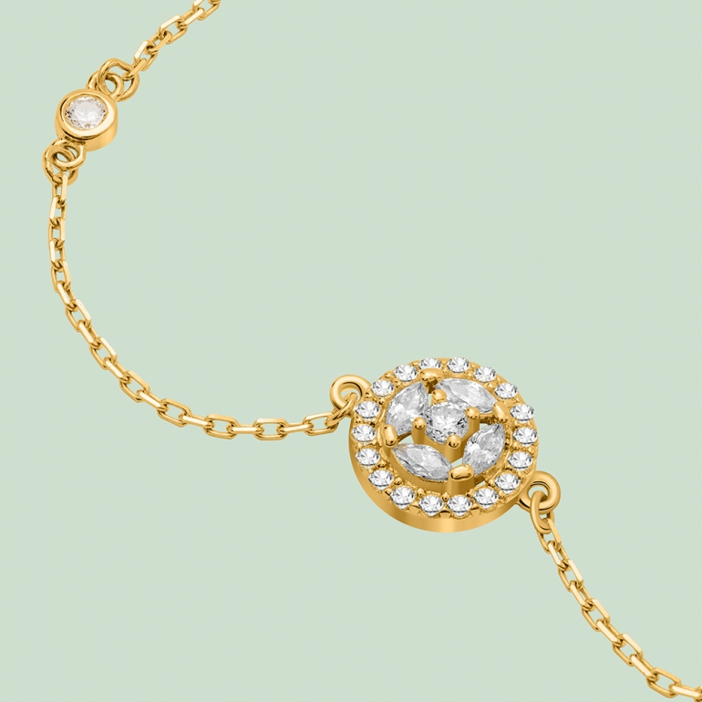 Fabian Round Design Gold Bracelet-FLJ-CG20B3970S-BR.G 02