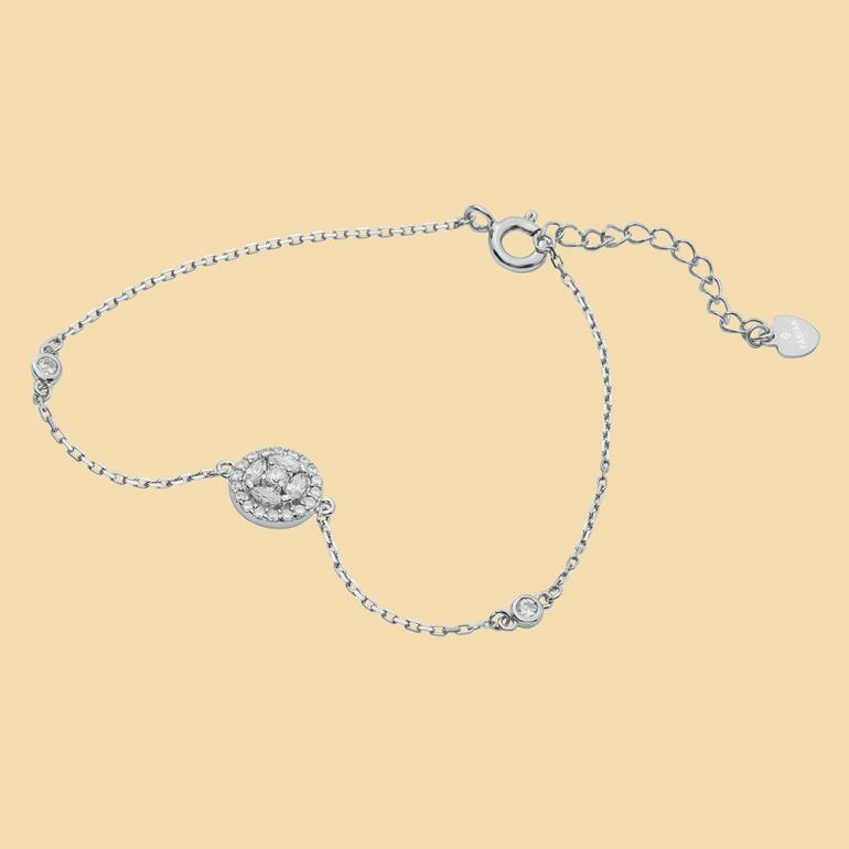 Fabian Round Design Silver Bracelet-FLJ-CG20B3970S-BR.S 01