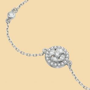 Fabian Round Design Silver Bracelet-FLJ-CG20B3970S-BR.S 02