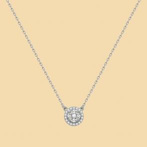 Fabian Round Pendant Silver Necklace-FLJ-CG20B3970S-NL.S 01