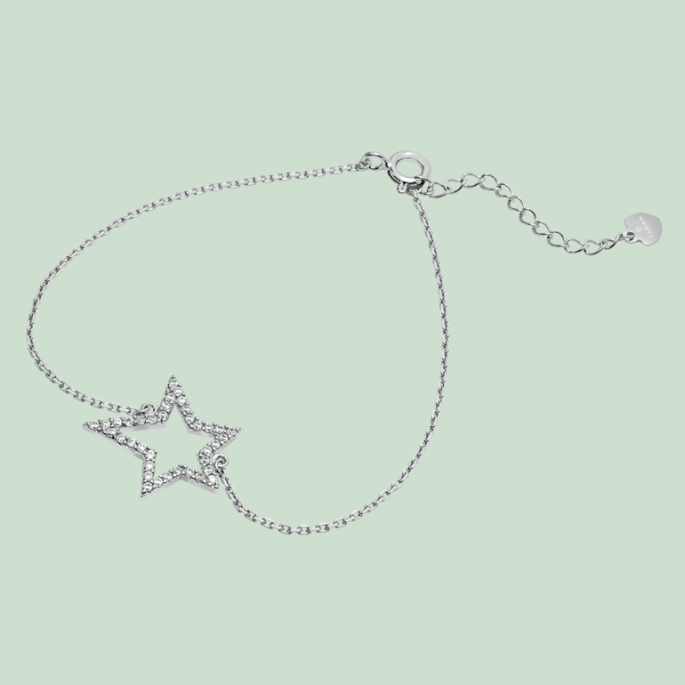 Fabian Star Design Silver Bracelet-FLJ-GD13B5726A-BR.S 01