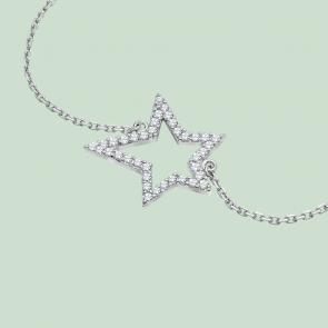 Fabian Star Design Silver Bracelet-FLJ-GD13B5726A-BR.S 02